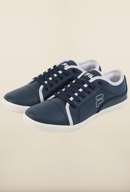 Fila Lavadro II Navy & White Sneakers for Men