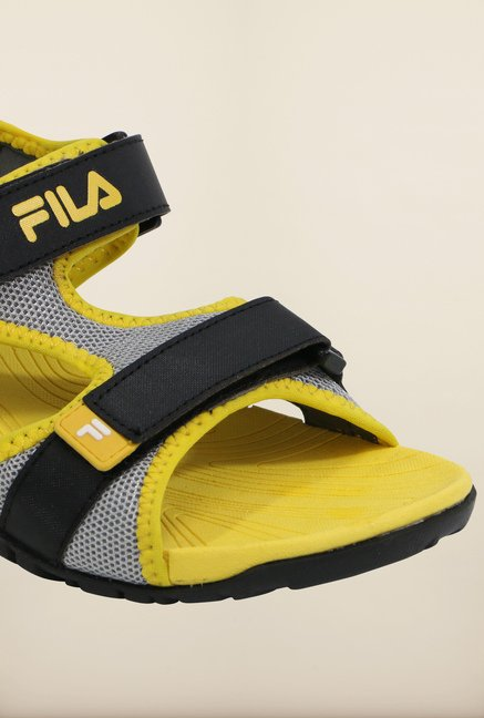 Fila Lancom Black & Yellow Floater Sandals