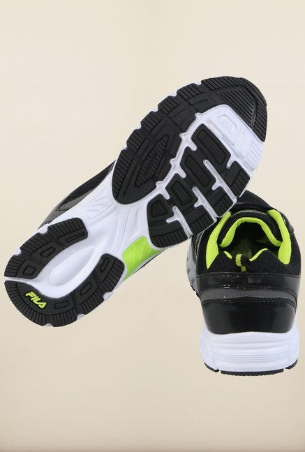 Fila Abramo Black & Neo Green Running Shoes
