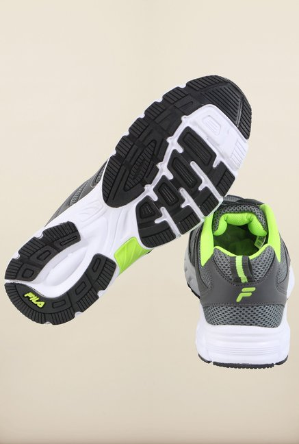 Fila Barrel II Grey & Green Running Shoes