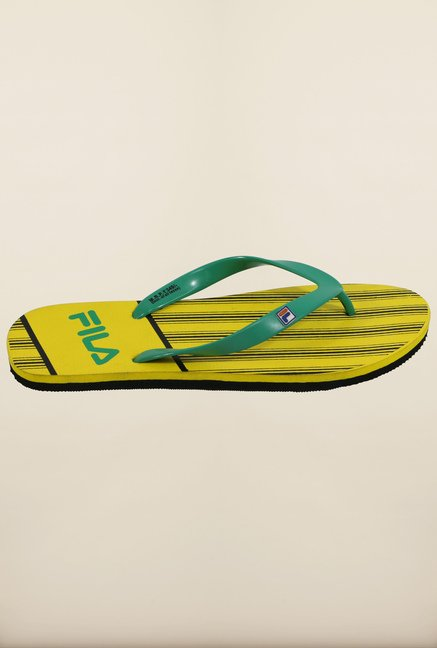 Fila Dandy Green & Yellow Flip Flops