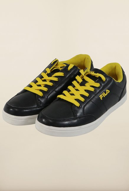 Fila Lorenzo Black & Yellow Sneakers for Men