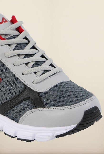 Fila Fabiano Grey & Red Running Shoes