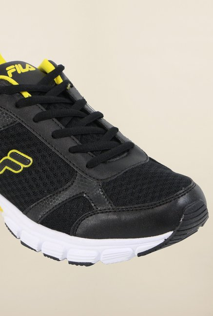 Fila Fabiano Black & Yellow Running Shoes