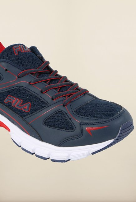 Fila Lite Runner Plus 2 Navy & Red Running Shoes
