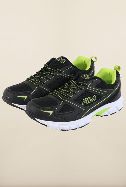 Fila Lite Runner Plus 2 Black & Green Running Shoes