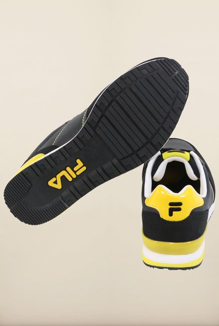 Fila Orazio Plus 2 Black & Yellow Sneakers for Men