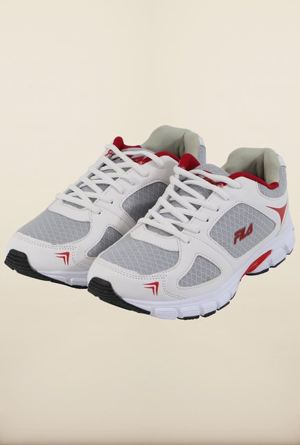 Fila Run Fast Plus 2 White & Red Running Shoes