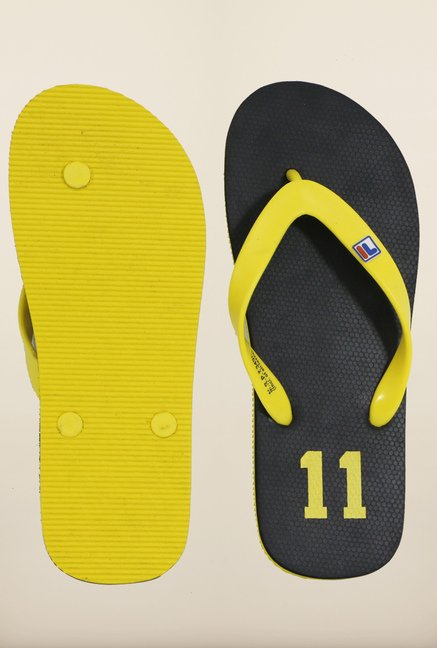 Fila 11 Black & Yellow Flip Flops