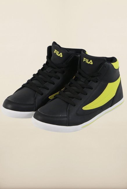 Fila Street Mate Black & Neo Green Sneakers for Men