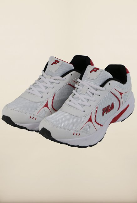 Fila Sprint II White & Red Running Shoes