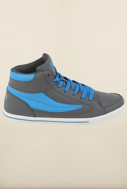 Fila Street Mate Grey & Royal Blue Sneakers for Men
