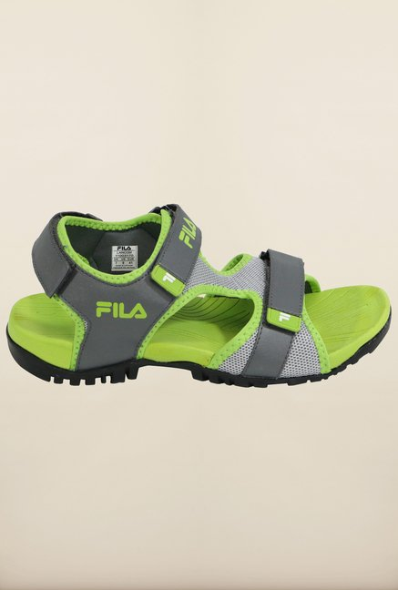 Fila Lancom Grey & Green Floater Sandals
