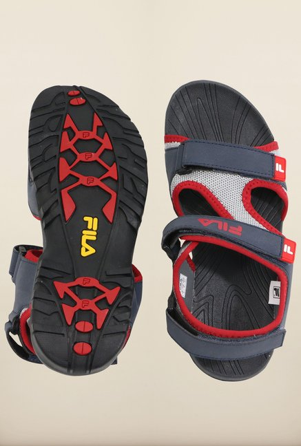 Fila Lancom Navy & Red Floater Sandals