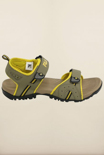 Fila Mafalda Beige & Yellow Floater Sandals