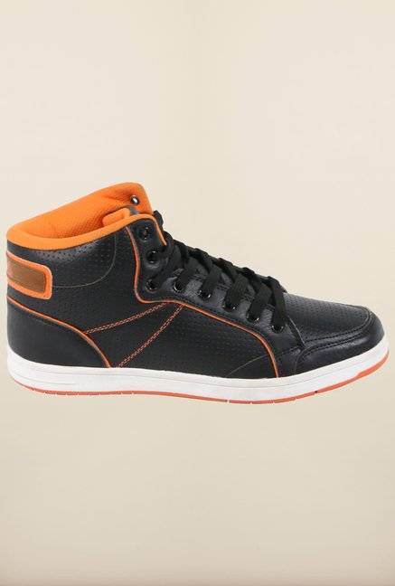 Fila Hopper Black & Orange Sneakers for Men