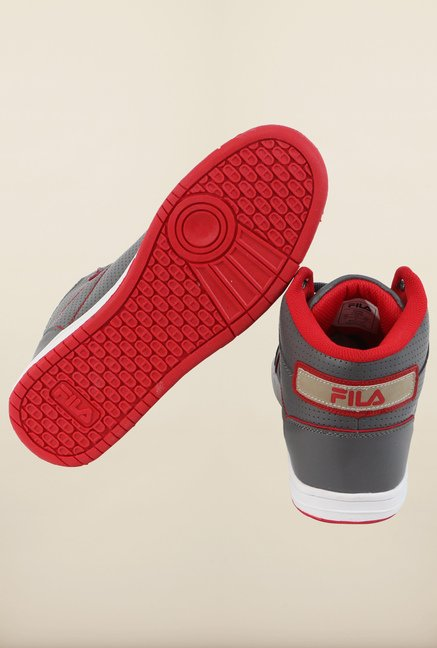 Fila Hopper Grey & Red Sneakers for Men