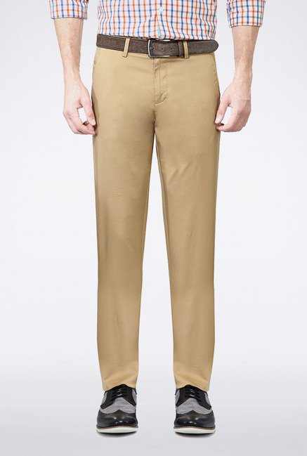 Allen Solly Khaki Slim Fit Casual Trouser