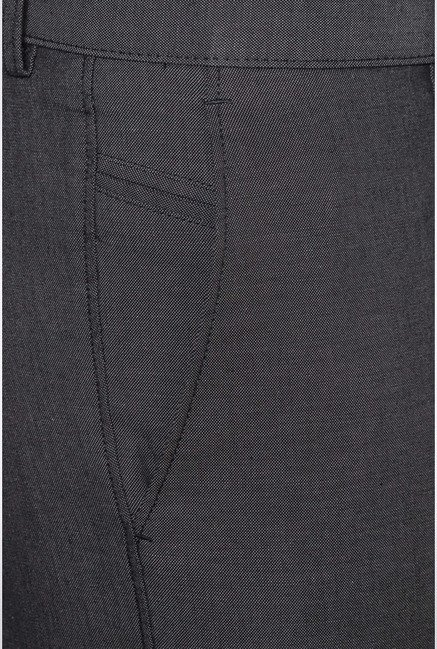Allen Solly Grey Solid Casual Trouser