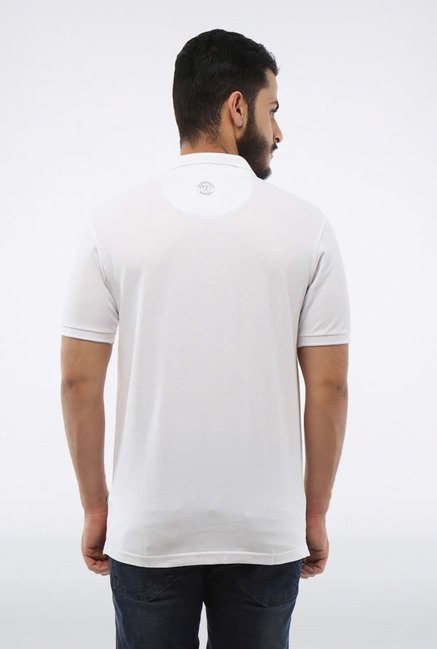 Allen Solly White Wimbledon Polo T-Shirt