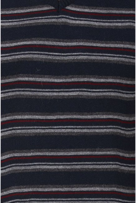 Peter England Navy Striped Sweater