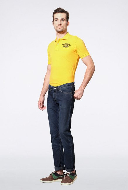 Allen Solly Navy Slim Fit Jeans