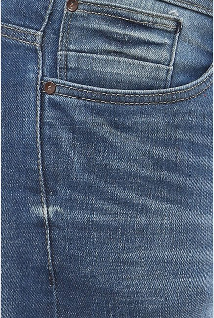 Allen Solly Blue Lightly Washed Jeans