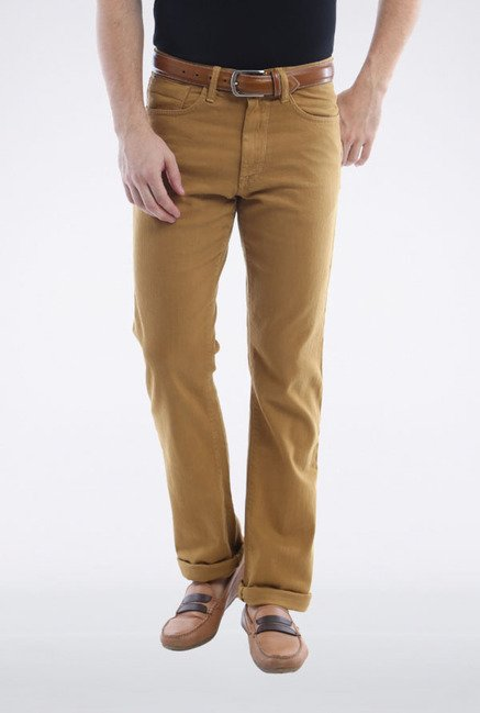 Allen Solly Brown Solid Jeans