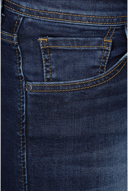Peter England Dark Blue Lightly Washed Jeans