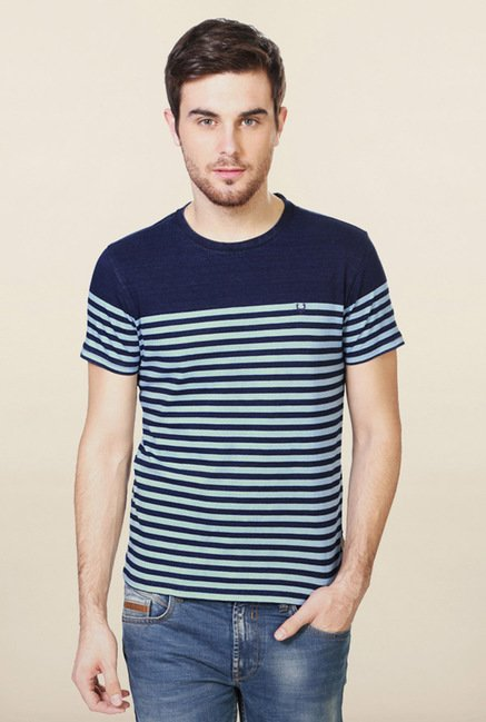 Allen Solly Blue Striped T-Shirt