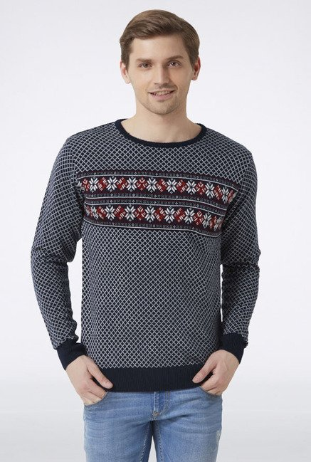 Peter England Navy Sweater