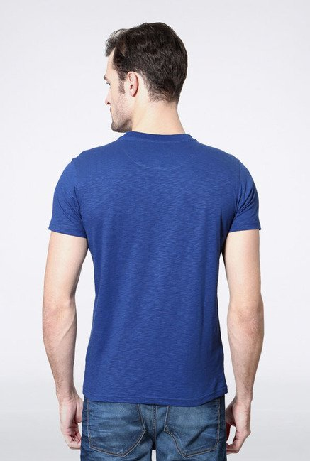 Allen Solly Blue Solid T-Shirt
