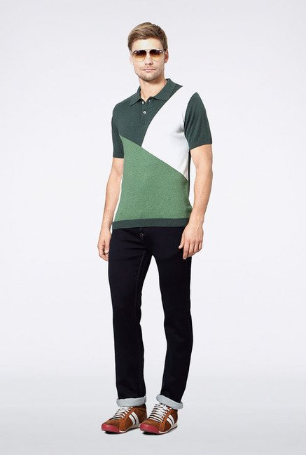 Allen Solly Green Polo T-Shirt