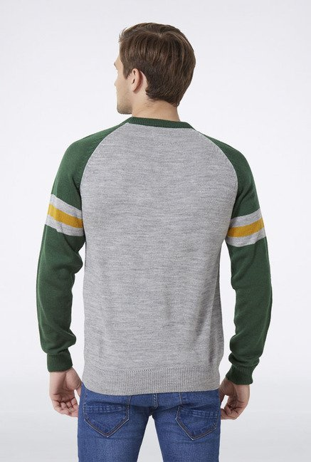 Peter England Grey Printed Sweatshirt