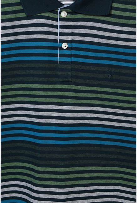 Allen Solly Multicolored Striped Polo T-Shirt