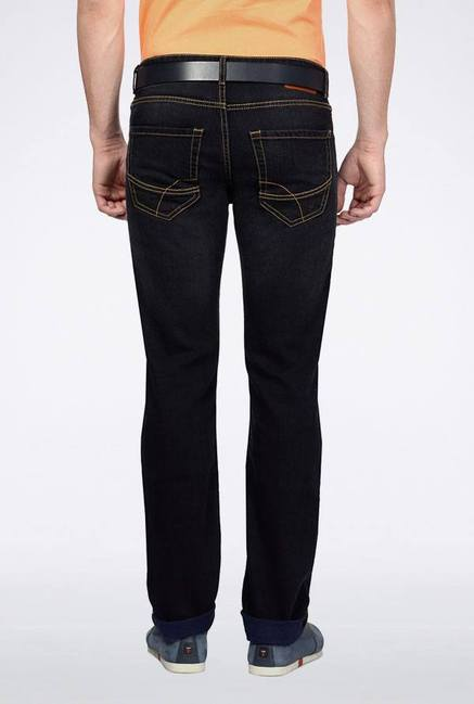 Peter England Navy Lightly Washed Jeans