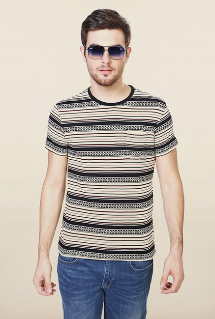 Allen Solly Beige Printed T-Shirt