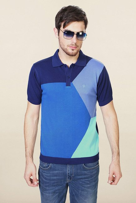 Allen Solly Blue Polo T-Shirt
