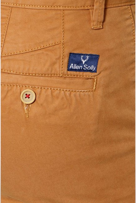 Allen Solly Mustard Mid Rise Casual Trouser