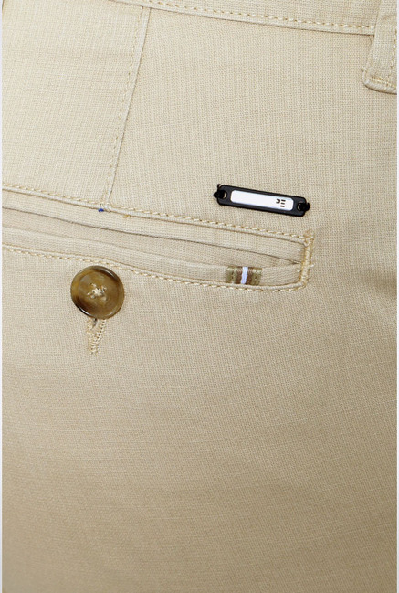 Peter England Beige Slim Fit Casual Trouser
