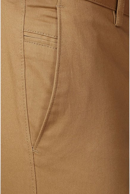 Allen Solly Khaki Mid Rise Casual Trouser