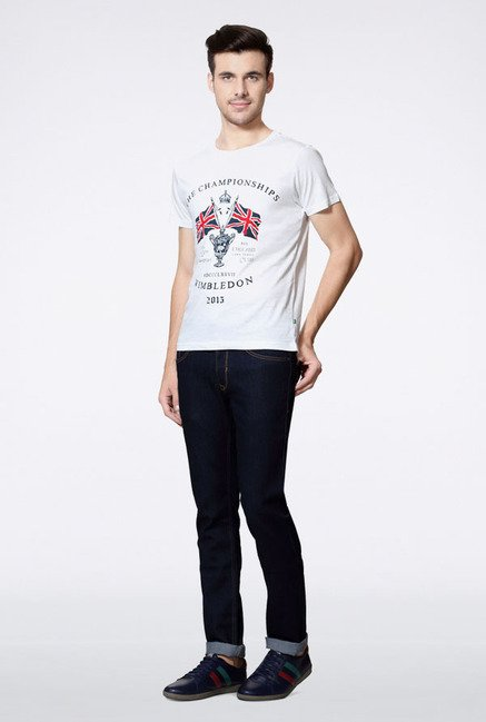 Allen Solly White Wimbledon T-Shirt
