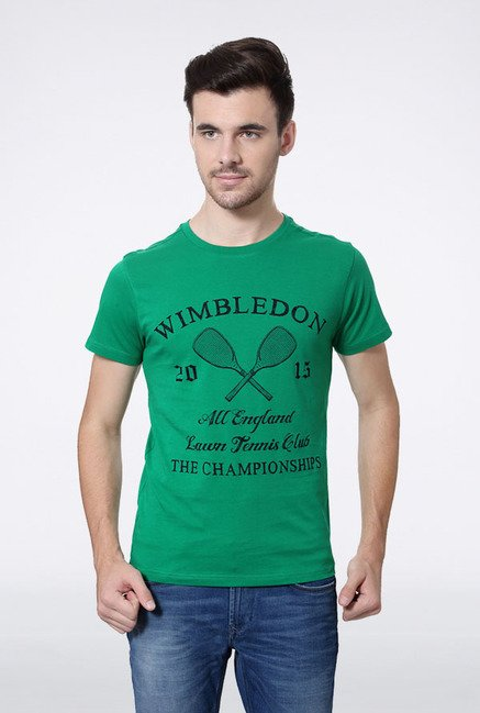 Allen Solly Green Wimbledon T-Shirt
