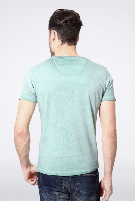 Allen Solly Light Blue Printed T-Shirt