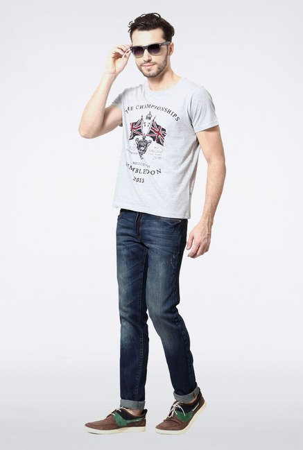 Allen Solly Grey Wimbledon T-Shirt