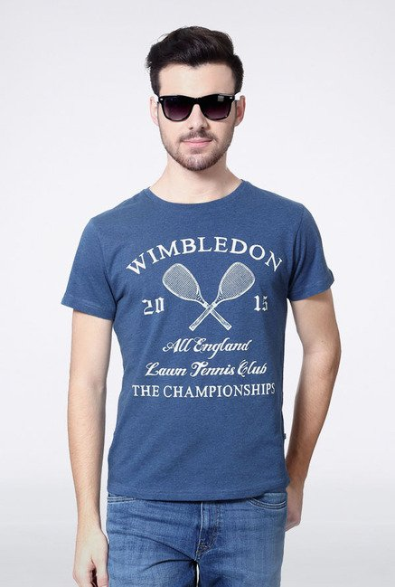 Allen Solly Dark Blue Wimbledon T-Shirt