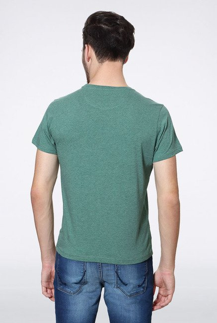 Allen Solly Green Graphic Print T-Shirt