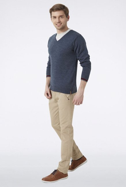 Peter England Slate Grey Sweater