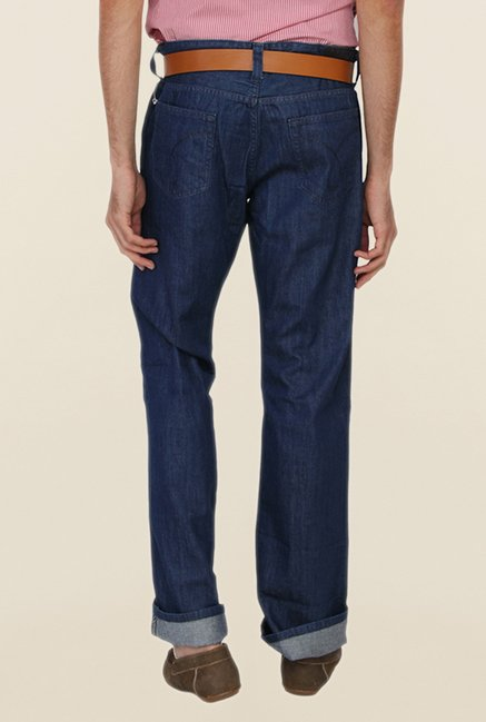 Calvin Klein Blue Straight Fit Jeans