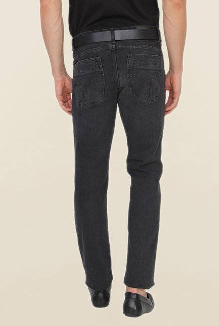Calvin Klein Black Washed Regular Fit Jeans